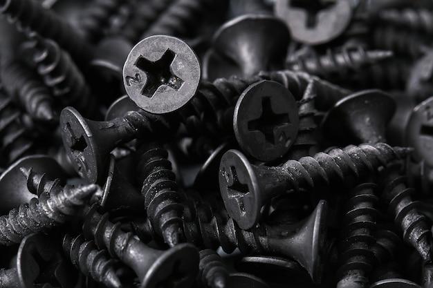 Fundo de parafusos de ferro preto