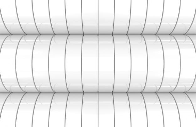 Fundo de parede curva moderna cilindro branco