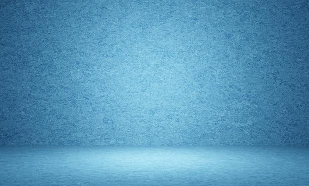 Fundo de parede de cimento azul abstrato 3d