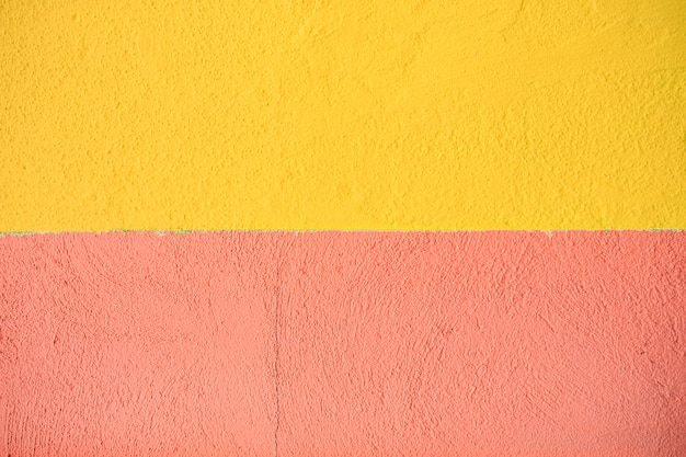 Fundo de parede de cimento com textura amarela e laranja