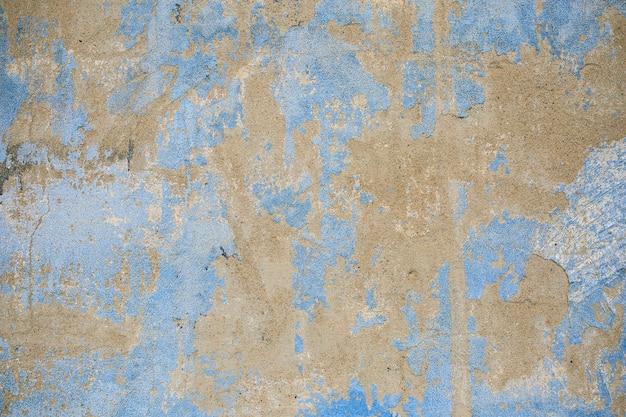Fundo de parede de concreto com textura azul e cinza