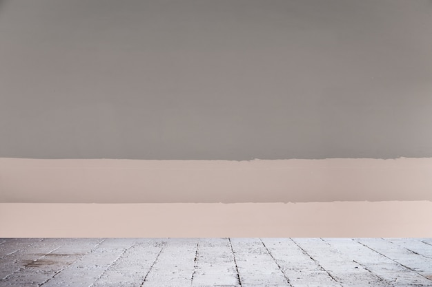 Fundo de parede de cor cinza com textura de piso de cimento