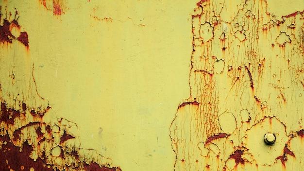 Fundo de parede de ferrugem grunge amarelo
