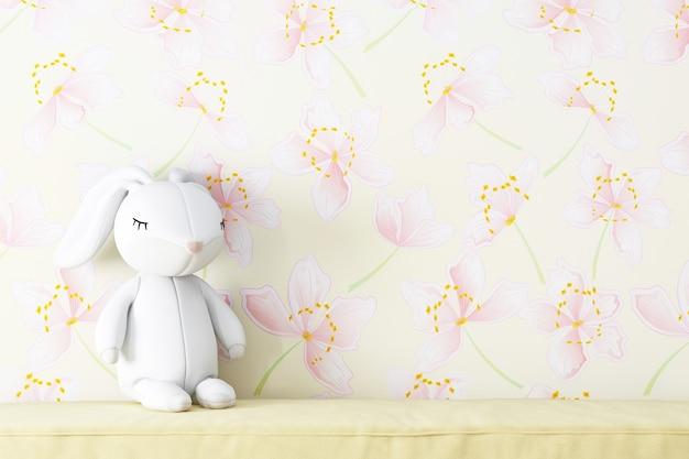 Fundo de parede de flores para produtos para bebês