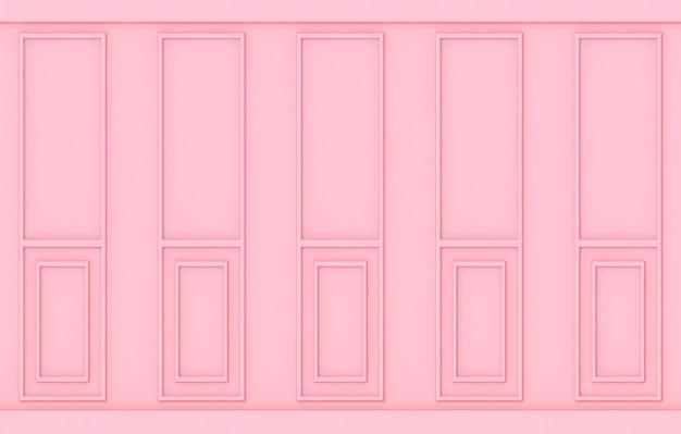 Fundo de parede de madeira luxo doce suave rosa clássico padrão