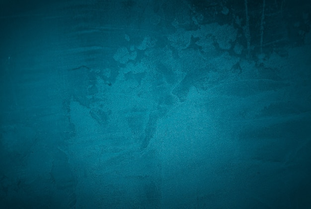Fundo de parede de textura de concreto azul vintage grunge com vinheta.