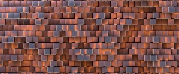 Fundo de parede de tijolo brilhante