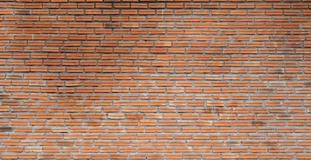 Fundo de parede de tijolo laranja vintage.