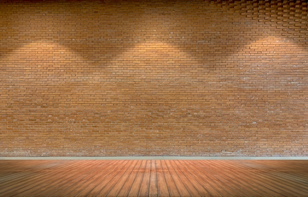 Fundo de parede de tijolo rústico marrom