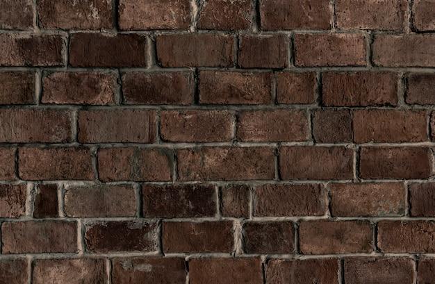 Fundo de parede de tijolo texturizado marrom