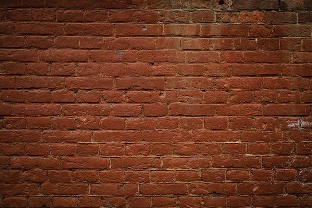 Fundo de parede de tijolo vermelho texturizado vintage
