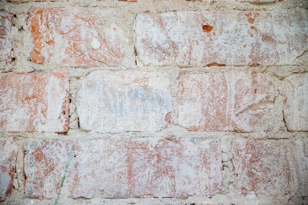 Fundo de parede de tijolo vintage velho