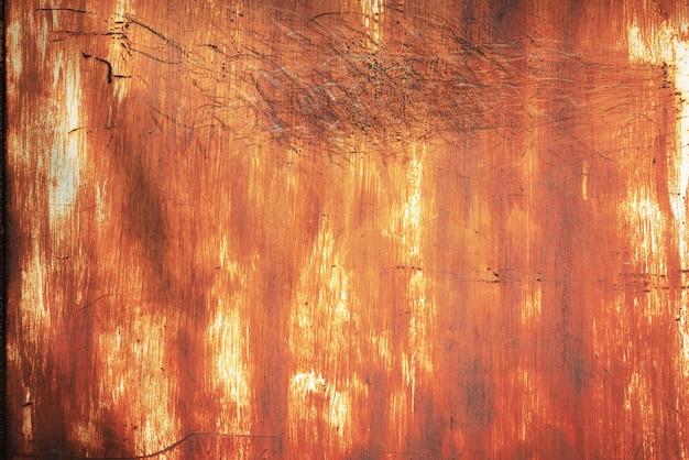Fundo de parede de zinco enferrujado grunge.