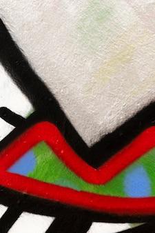Fundo de parede pintado com spray colorido