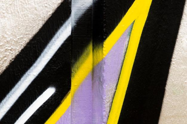 Fundo de parede pintado com spray