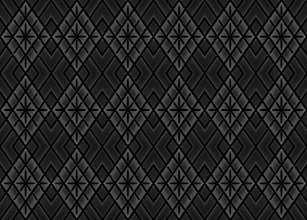 Fundo de parede quadrado escuro moderno sem costura padrão de grade.
