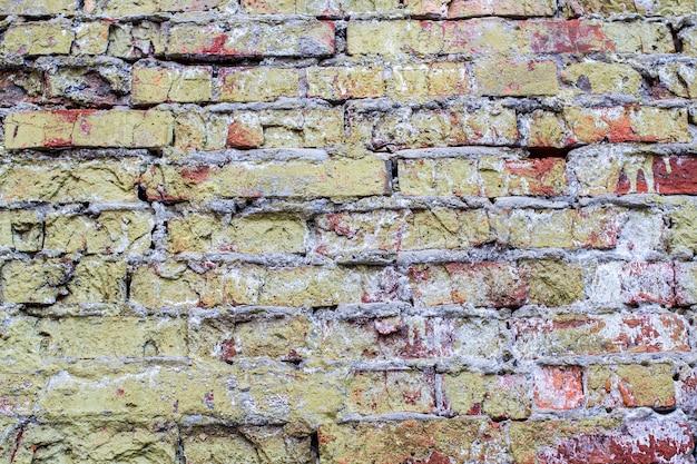 Fundo de parede velha de tijolo.