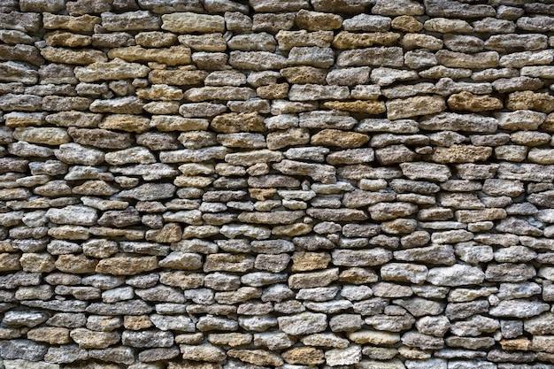 Fundo de paredes de pedra calcária, pedras densamente empilhadas
