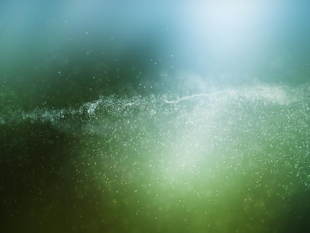 Fundo de partículas cibernéticas 3d com pontos fluidos