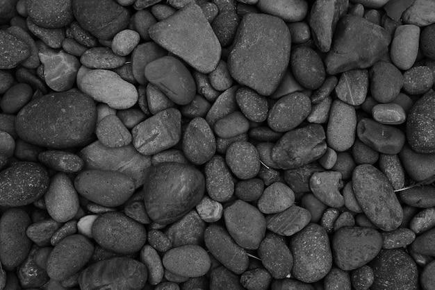 Fundo de pedra closeup praia de seixo