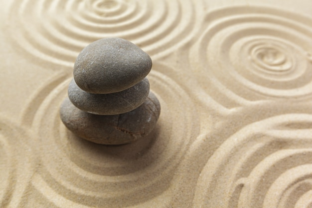 Fundo de pedra de meditação do jardim zen