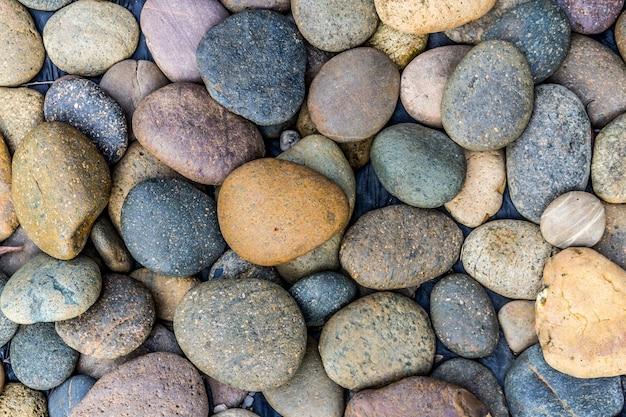 Fundo de pedra de seixos