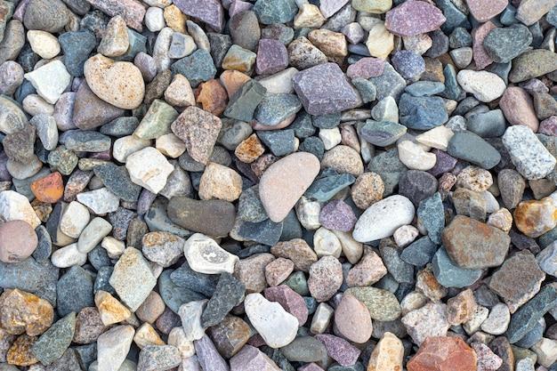 Fundo de pedra de tamanho e cor diferentes.