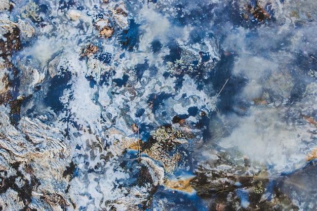 Fundo de pedra e gelo