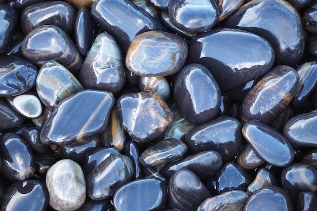 Fundo de pedras da praia