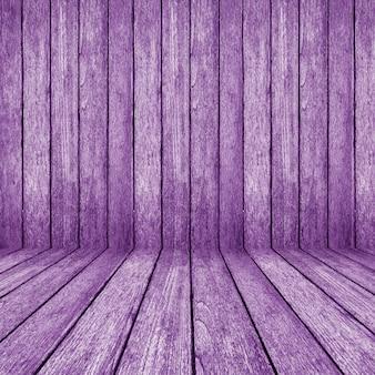 Fundo de perspectiva de madeira roxa para interior do quarto