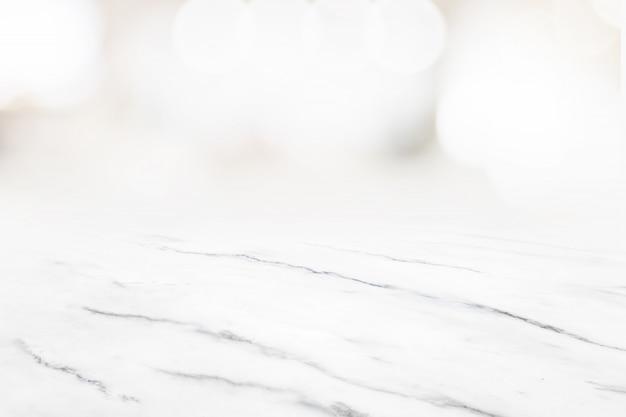 Fundo de perspectiva de textura de piso de mármore branco para exibição ou montagem de produto