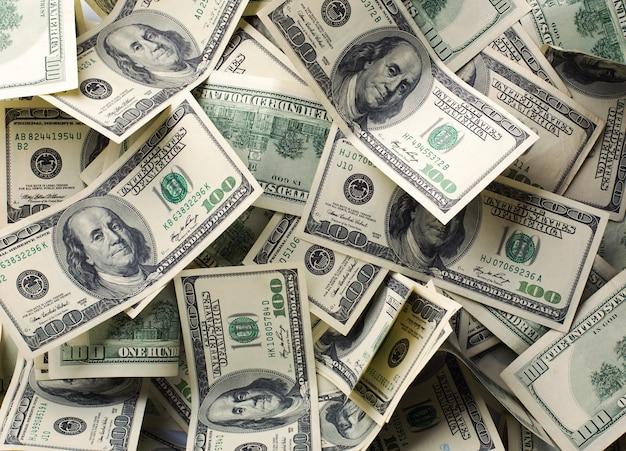 Fundo de pilha de dinheiro