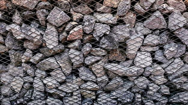 Fundo de pilha de pedra calcária