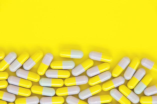 Fundo de pílulas cápsula