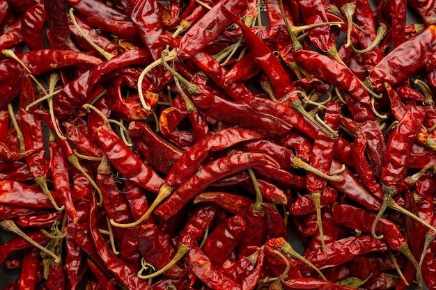 Fundo de pimenta vermelha seca