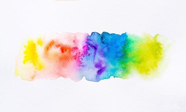 Fundo de pincel aquarela colorido. mancha de aquarela abstrata com mancha de tinta para banner, modelo, elemento de decoração. fechar-se.