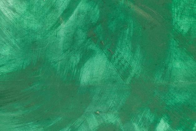 Fundo de pintura abstrata de cor verde