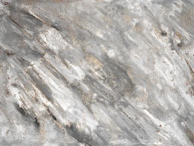 Fundo de pintura abstrata de tela de mármore cinza com textura de ouro, bronze. ilustração moderna