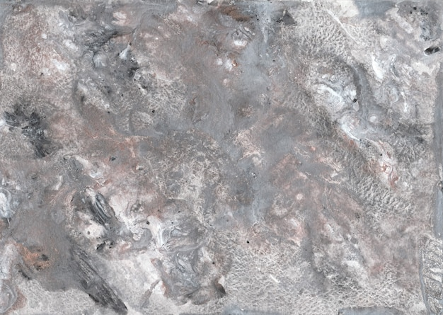 Fundo de pintura abstrata de tela de mármore cinza com textura de ouro, bronze.