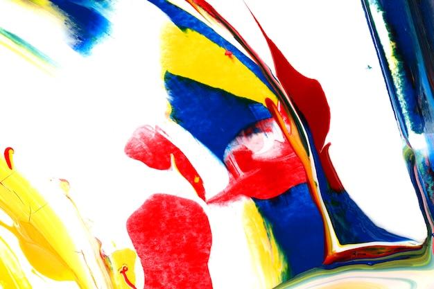 Fundo de pintura acrílica abstrata colorida