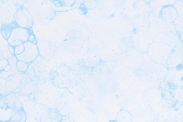 Fundo de pintura com bolha azul estilo faça você mesmo