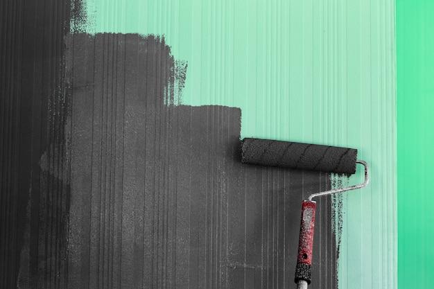 Fundo de pintura de escova de rolo