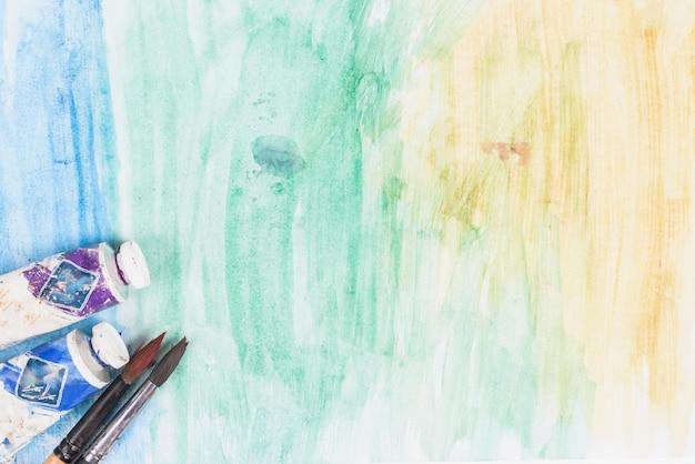 Fundo de pintura em aquarela