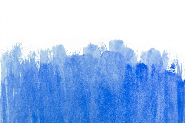 Fundo de pique de traço de pincel azul pintados à mão