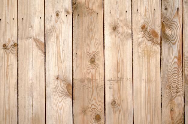 Fundo de placas de madeira marrom nuas sem pintura