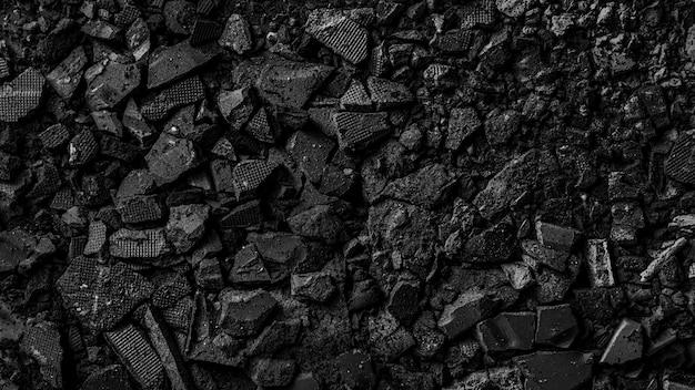 Fundo de pó de sombra preta quebrado