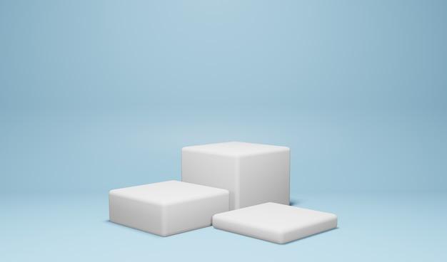 Fundo de pódio para exibição de produto cor azul
