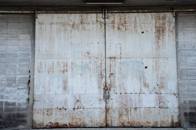 Fundo de portão de ferro vintage