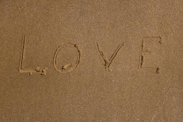Fundo de praia. amor na areia