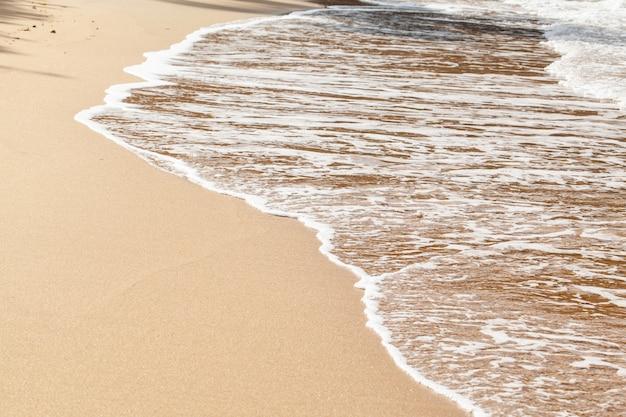 Fundo de praia de areia molhada